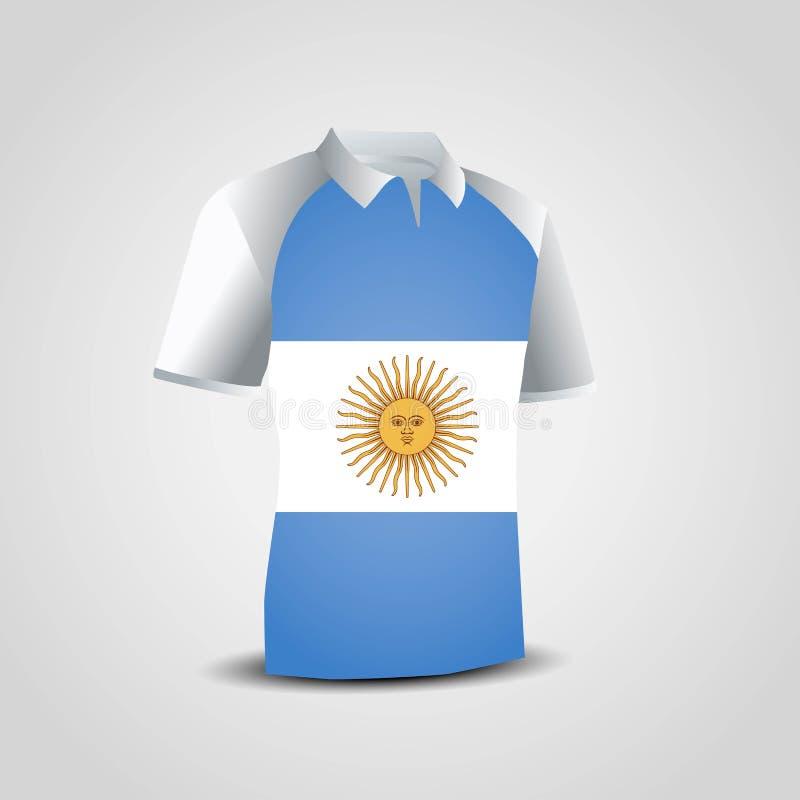 Vektor för design för Argentina flaggaskjorta stock illustrationer