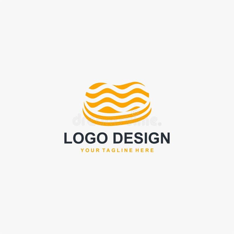 Vektor för design för biffköttlogo Matlogodesign för restaurangaffär royaltyfri illustrationer
