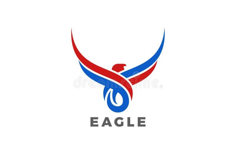 Vektor för design för Eagle Bird Wings abstrakt begrepplogo masc vektor illustrationer