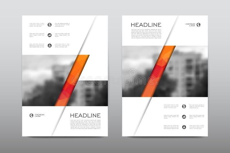 Vektor för design för reklamblad för broschyrorienteringsmall, bakgrund för abstrakt begrepp för tidskrifthäfteräkning royaltyfri illustrationer