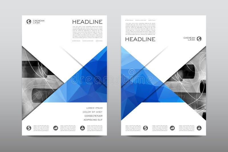 Vektor för design för reklamblad för broschyrorienteringsmall, bakgrund för abstrakt begrepp för tidskrifthäfteräkning vektor illustrationer