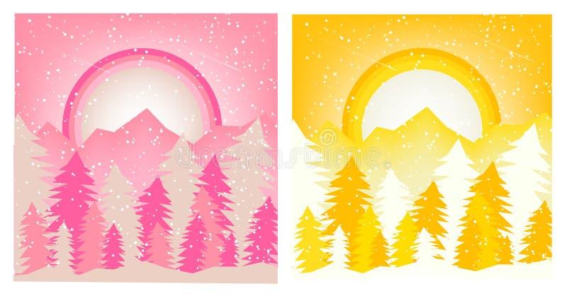 Vektor för design för idé för natt för abstrakta för mallbakgrundstextur för snö blått för glöd mörk stock illustrationer