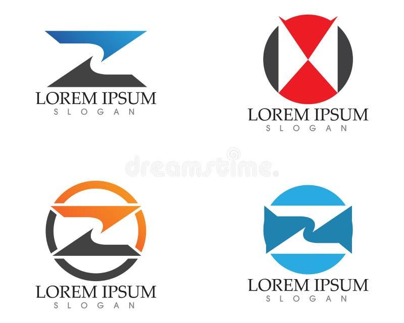 Vektor för design för logo för bokstav Z för affär företags vektor illustrationer