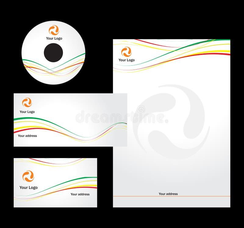 vektor för designbrevhuvudmall vektor illustrationer