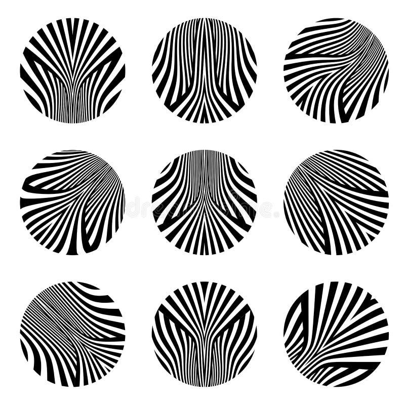 vektor för designelementset Cirkellinjer modeller stock illustrationer