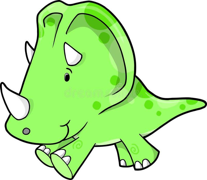 vektor för dinosaurillustrationtriceratops royaltyfri illustrationer
