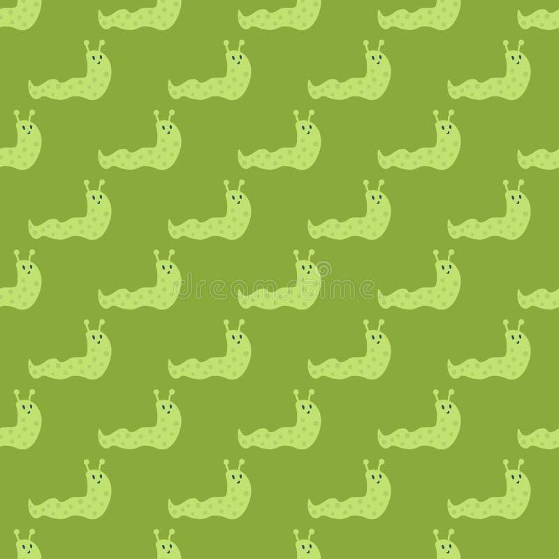 Vektor för djur för gastropod för natur för trädgårds- för djurlivsnigel sömlös för modell rolig ryggradslös spiral för plåga sle vektor illustrationer