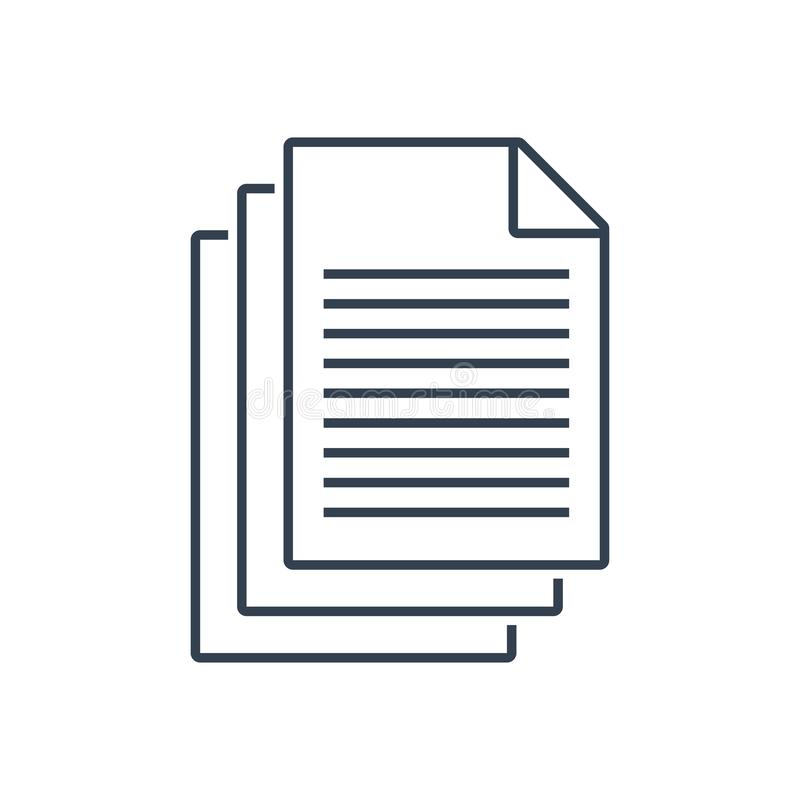 Vektor för dokumentsymbol stock illustrationer