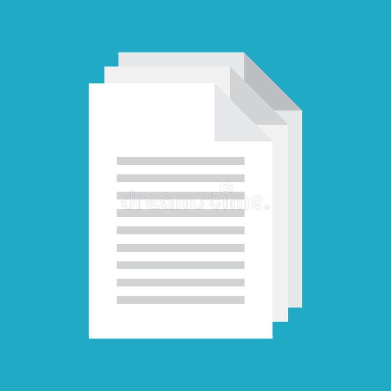 Vektor för dokumentsymbol vektor illustrationer