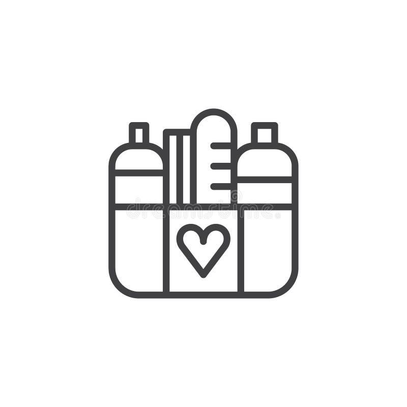 Vektor för donationmatsymbol royaltyfri illustrationer
