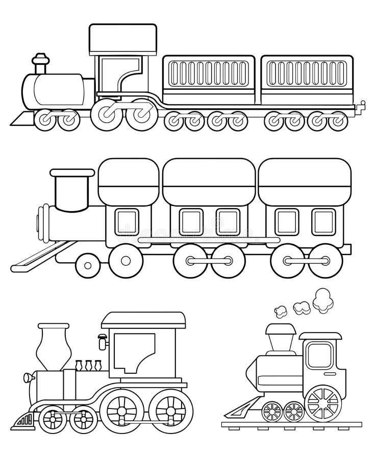 Vektor för drevfärgläggningsida stock illustrationer