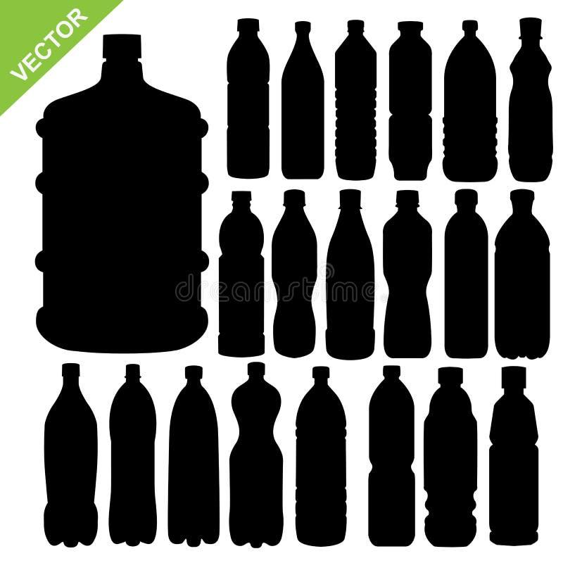 Vektor för drinkflaskkontur royaltyfri illustrationer
