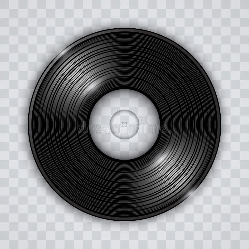 Vektor för effekt för vinylrekord genomskinlig vektor illustrationer