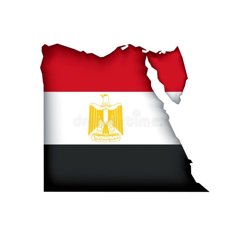 vektor för egypt flaggaöversikt