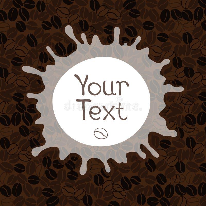 vektor för element för bakgrundskaffedesign Dekorativ fyrkantig bakgrund med plac stock illustrationer