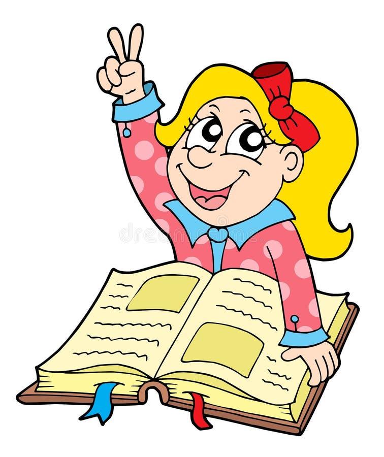 vektor för elev för bokillustration stock illustrationer