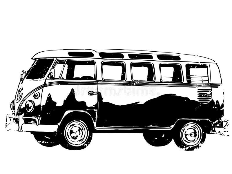 Vektor för eps för vektor för campareskåpbil, Eps, logo, symbol, konturillustration vid crafteroks för olikt bruk Bes?ka min webs royaltyfri illustrationer