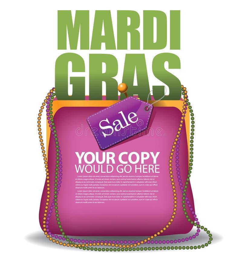 Vektor för EPS 10 för Mardi Gras handväskabakgrund vektor illustrationer