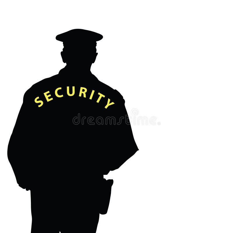 Vektor för färg för säkerhetsman royaltyfri illustrationer