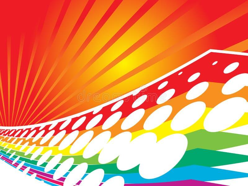 vektor för färgrika prickar för backg 3d rastrerad retro royaltyfri illustrationer