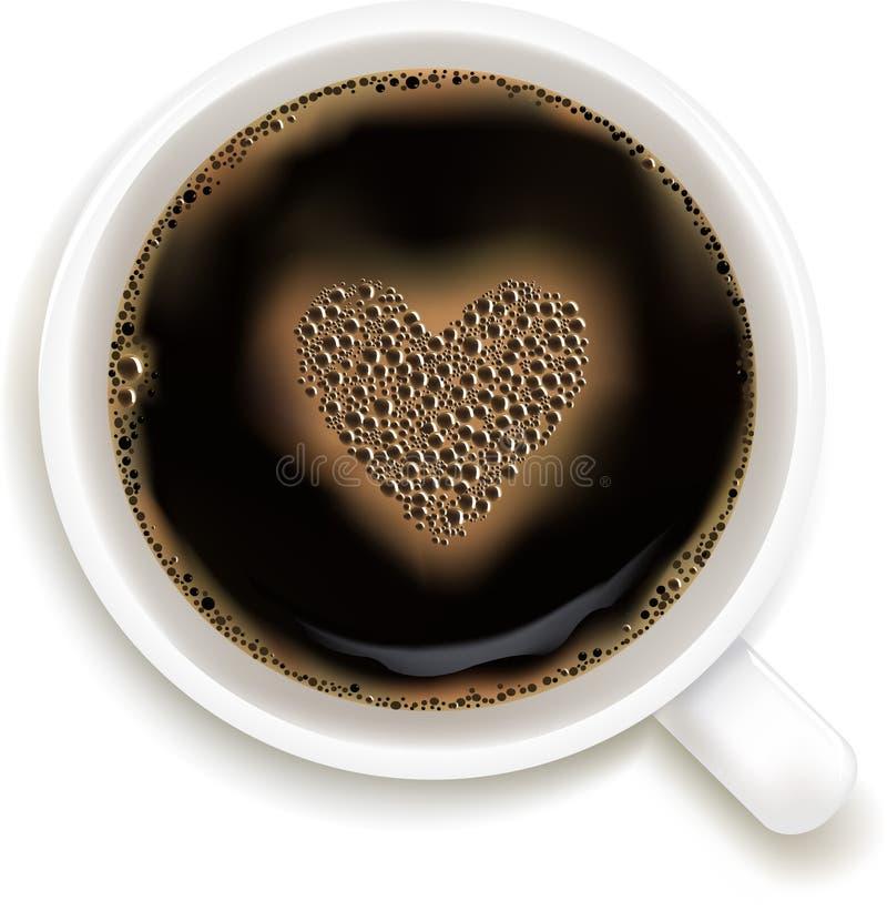 vektor för förutsägelse för förälskelse för kaffekopp stock illustrationer