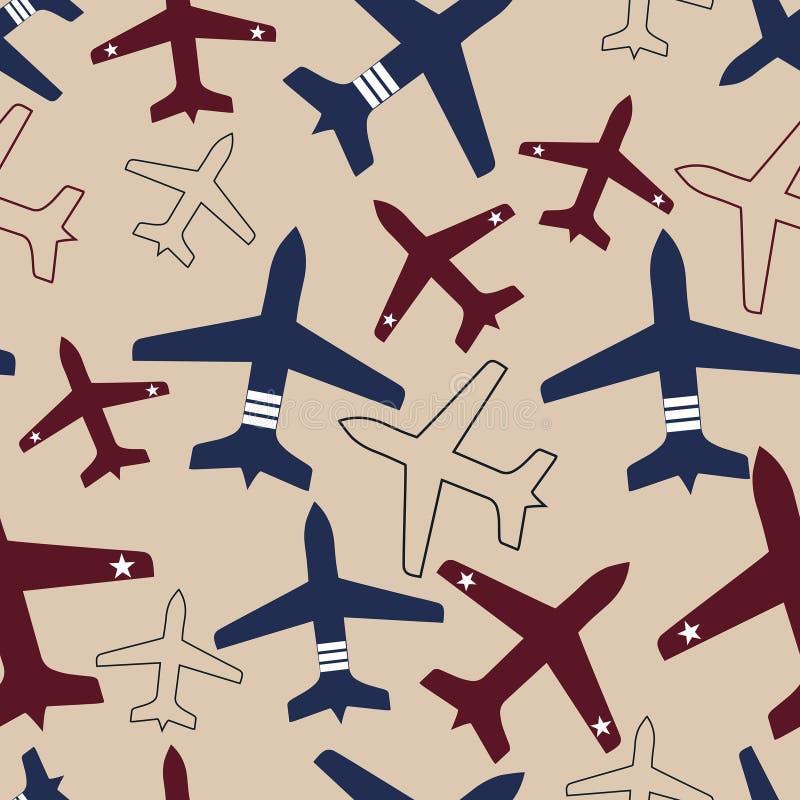vektor för flygplanflygillustration stock illustrationer