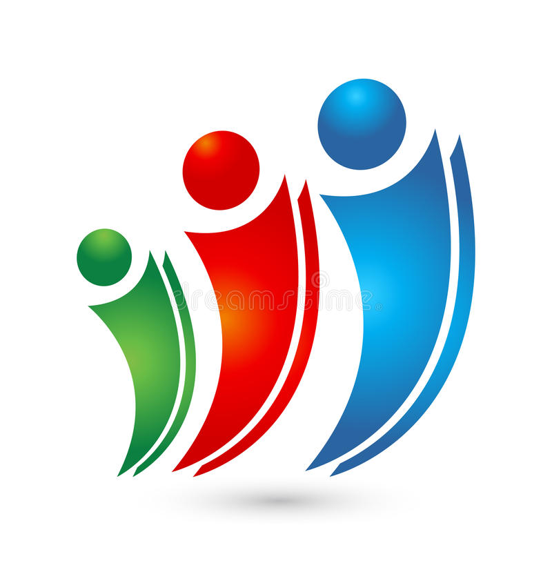 Vektor för folk för logoteamworkfamilj royaltyfri illustrationer