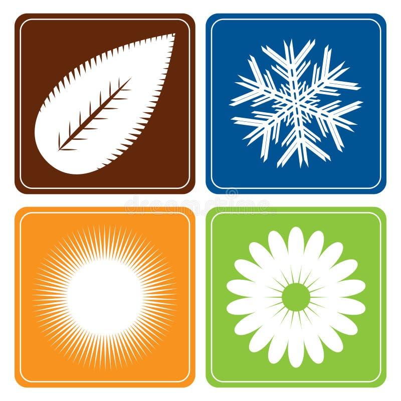 vektor för fyra säsonger vektor illustrationer
