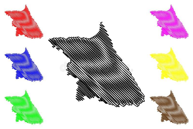 Vektor för Gangwon landskapöversikt vektor illustrationer