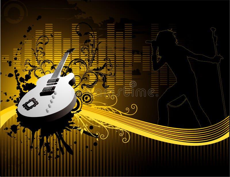 vektor för gitarrillustrationmusik royaltyfri illustrationer