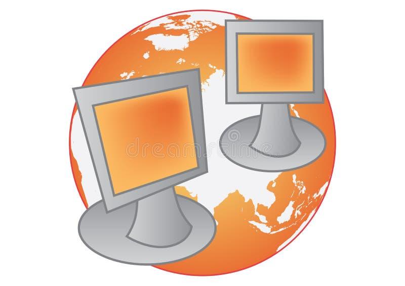 vektor för globalt nätverk royaltyfri illustrationer
