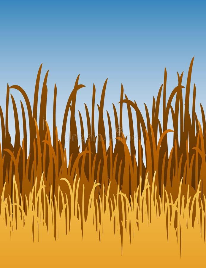 vektor för gräsillustrationdjungel stock illustrationer