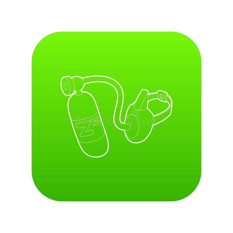 Vektor för gräsplan för symbol för syremaskering stock illustrationer