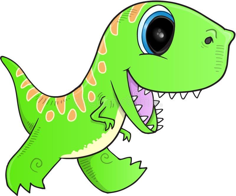 Vektor för grön dinosaurie stock illustrationer