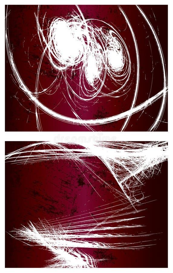 vektor för grunge för 2 bakgrunder set vektor illustrationer