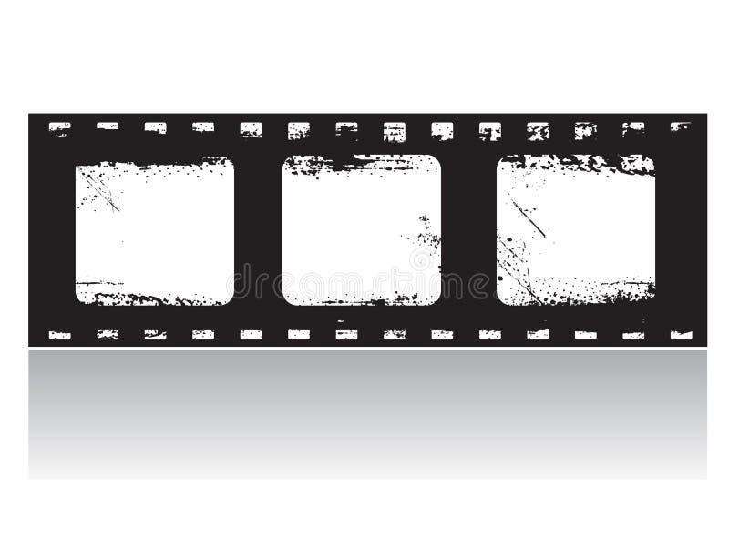 vektor för grunge för filmram vektor illustrationer