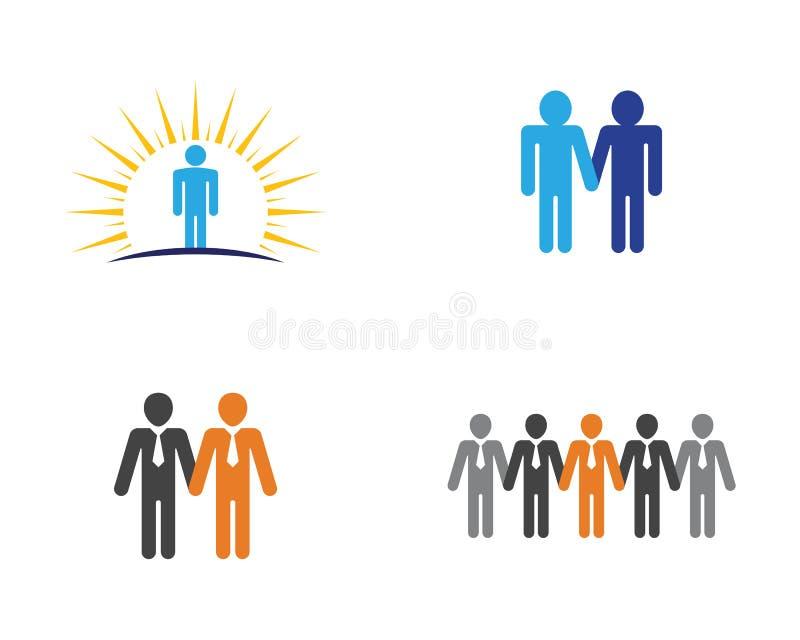Vektor för grupp för folksymbolsarbete vektor illustrationer