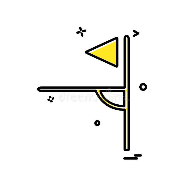 Vektor för hörnsymbolsdesign stock illustrationer