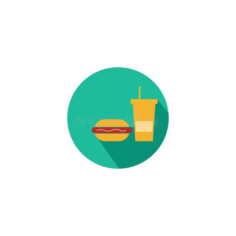 vektor för hamburgarelogodesign, symbolsmat, ost stock illustrationer