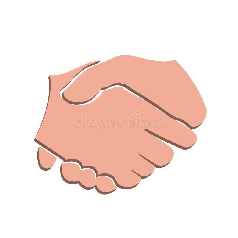vektor för handskakning 3d royaltyfri illustrationer