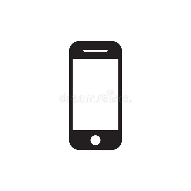 Vektor för handtelefonsymbol Grej f?r mobiltelefonsmartphoneapparat i iphonestil p? den vita bakgrunden vektor illustrationer