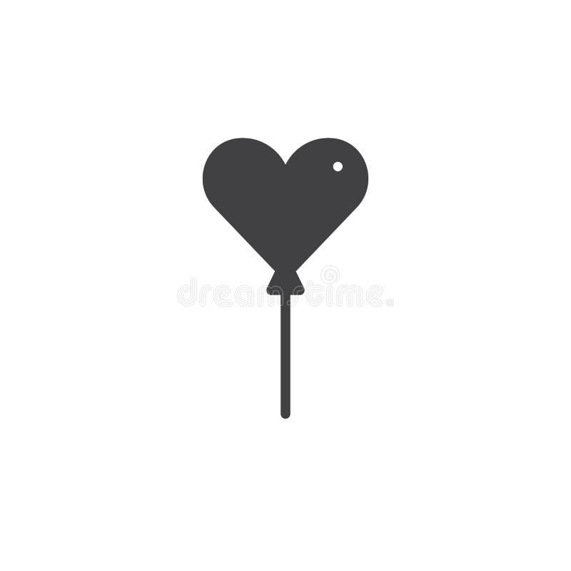 Vektor för hjärtaballongsymbol stock illustrationer