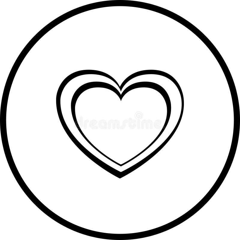 vektor för hjärtaillustrationform vektor illustrationer