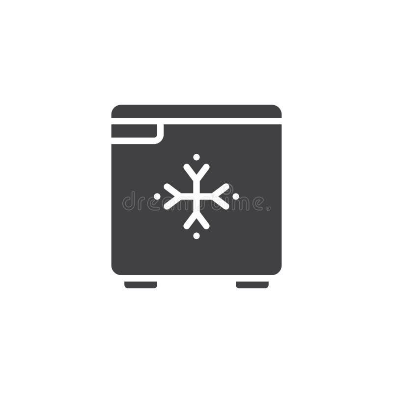 Vektor för hotellkylsymbol royaltyfri illustrationer