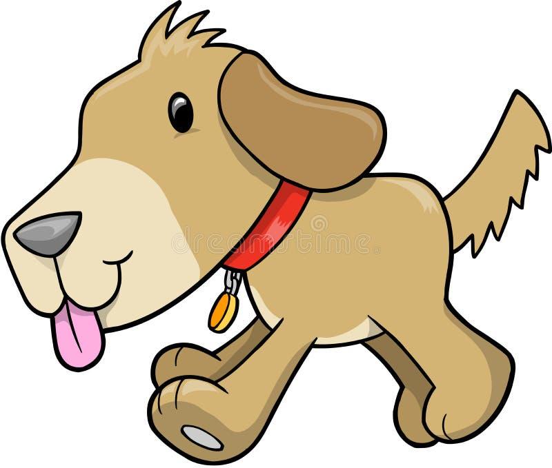 vektor för hundillustrationvalp royaltyfri illustrationer