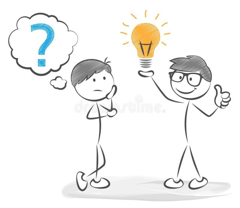 Vektor för idé för pinnemanaffär stock illustrationer