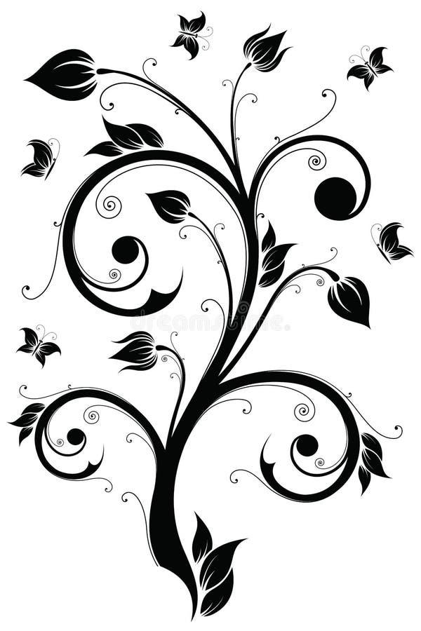 vektor för illustration för designelement blom- vektor illustrationer