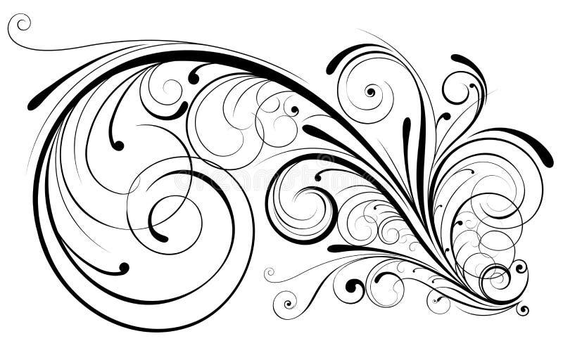 vektor för illustration för designelement blom- royaltyfri illustrationer