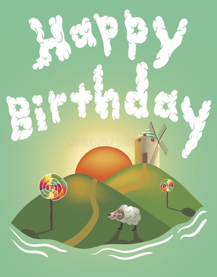 vektor för illustration för hälsning för födelsedagkort eps10 royaltyfria foton