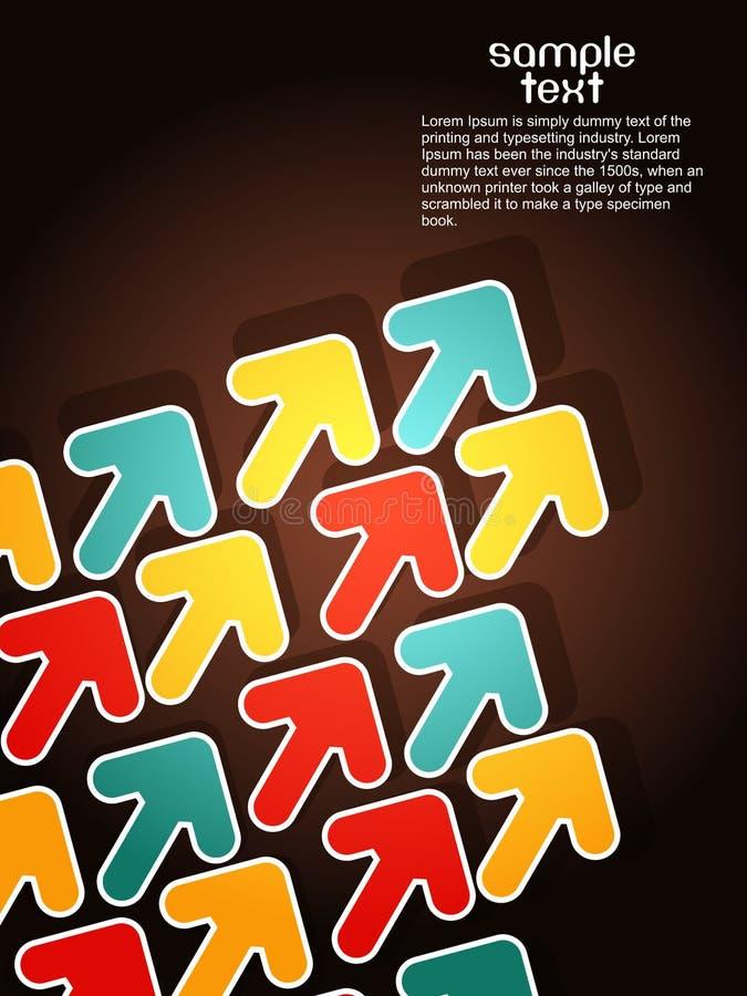 vektor för illustration för pilbakgrund elegent stock illustrationer